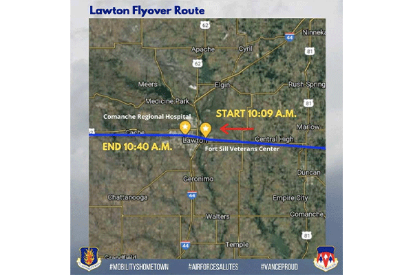 Lawton Flyover Route