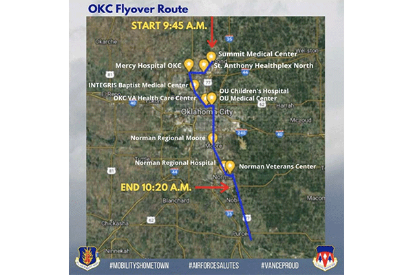 OKC Flyover Route